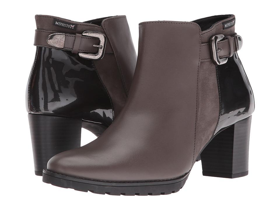 Mephisto - Jaimie (Dark Grey Citycalf/Grey Bucksoft/Patent) Women's Boots