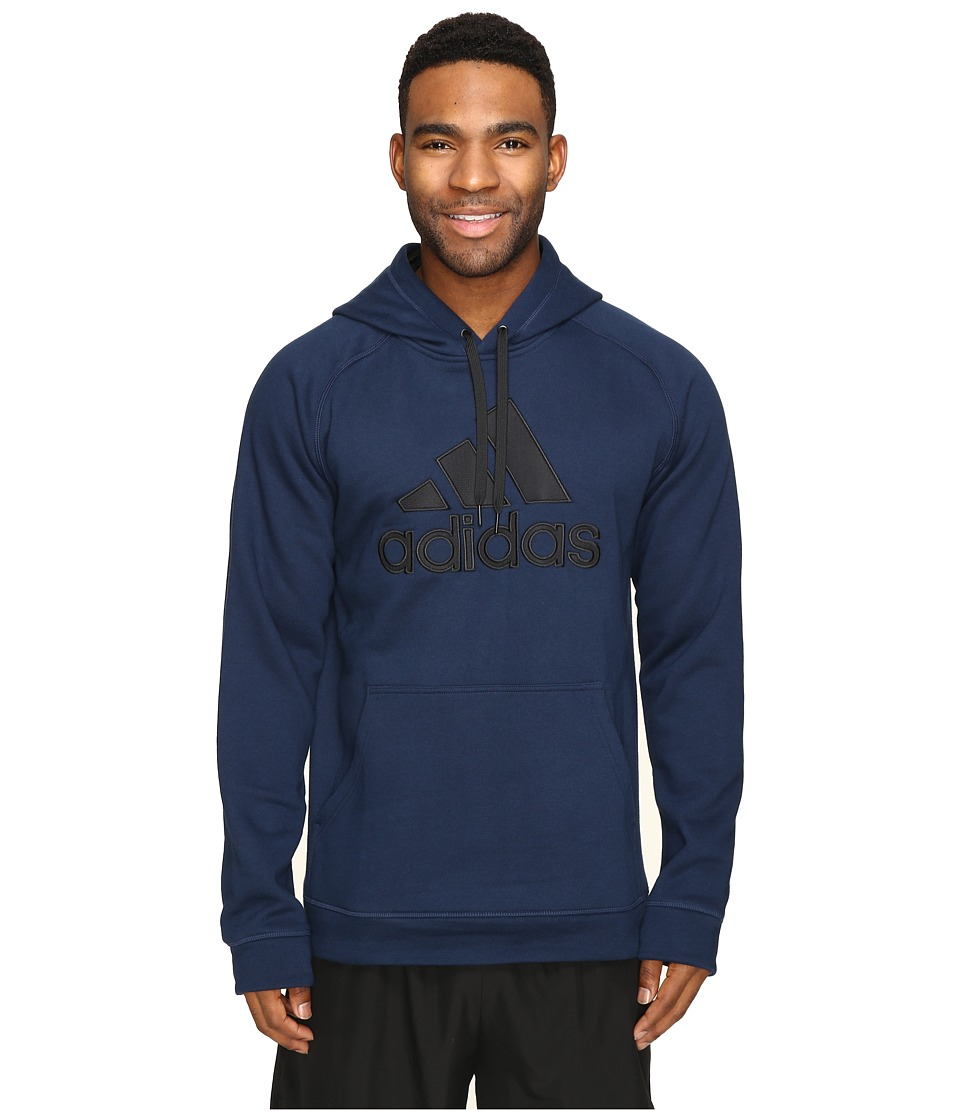 adidas - Essentials Cotton Fleece Pullover Hoodie (Collegiate Navy/Black) Men's Sweatshirt