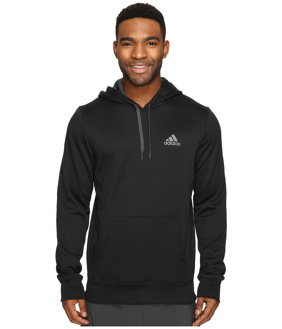 adidas - Ultimate Fleece Pullover Hoodie (Black/Granite) Men's Sweatshirt
