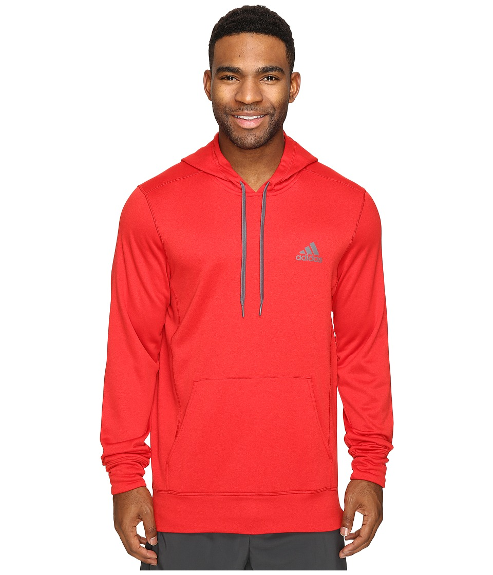 adidas - Ultimate Fleece Pullover Hoodie (Scarlet/Granite) Men's Sweatshirt