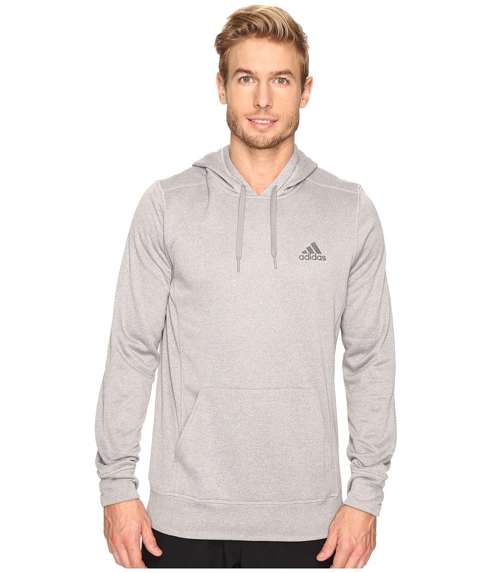 adidas - Ultimate Fleece Pullover Hoodie (Medium Grey Heather/Granite) Men's Sweatshirt
