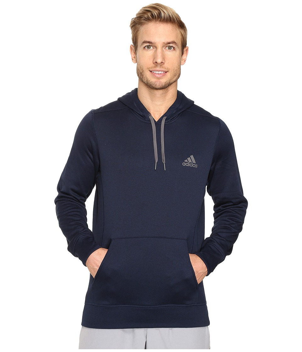 adidas - Ultimate Fleece Pullover Hoodie (Collegiate Navy/Granite) Men's Sweatshirt