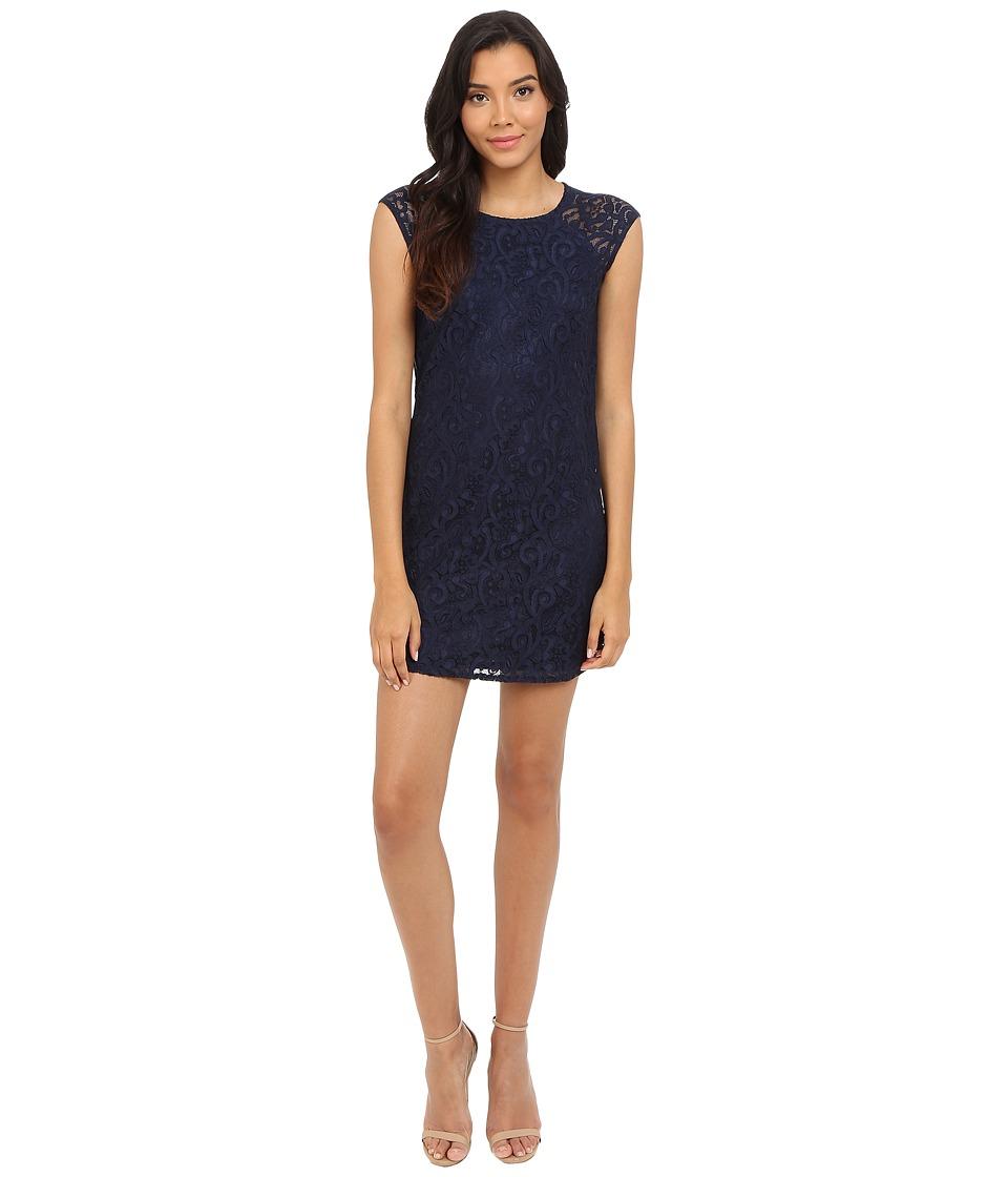 Laundry by Shelli Segal - Lace Shift Dress with Side Zippers (Inkblot) Women's Dress