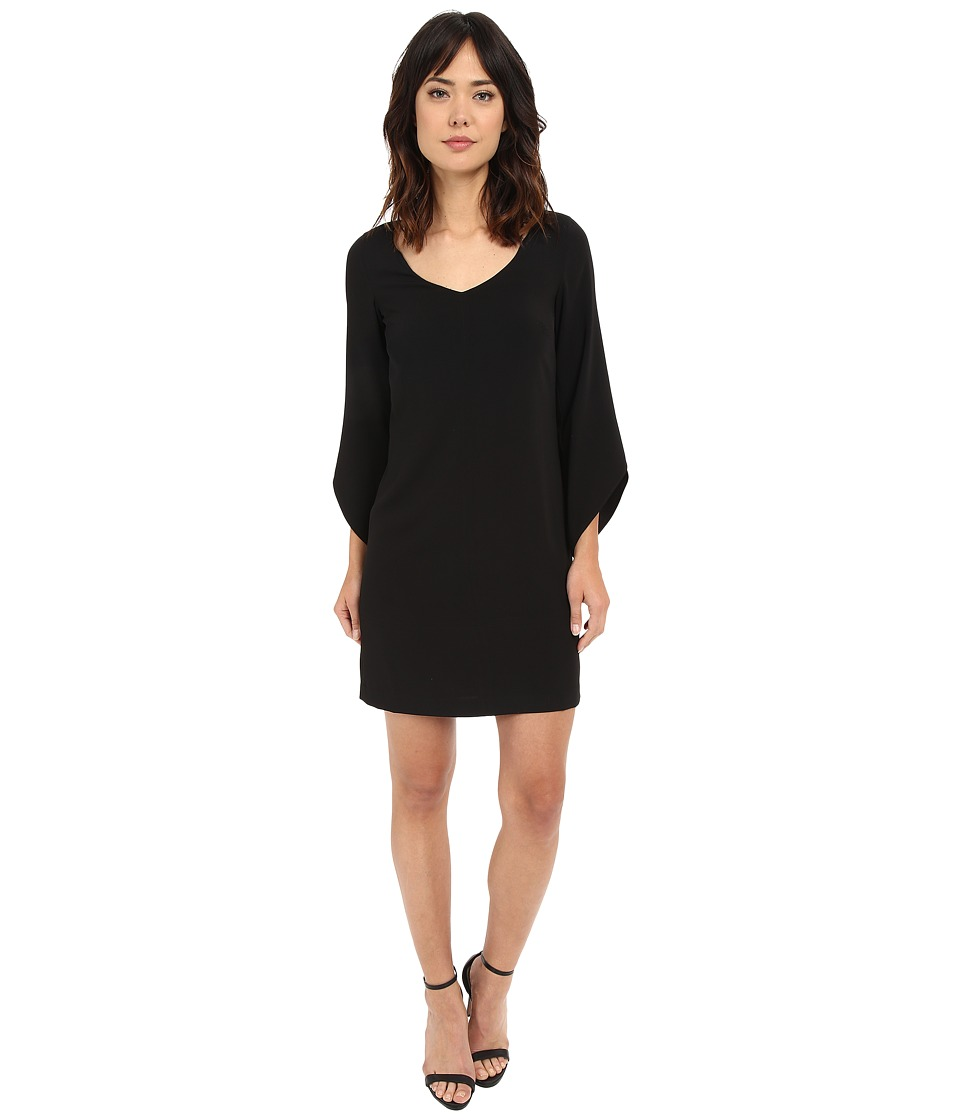 Laundry by Shelli Segal - Crepe T-Body with 3/4 Tulip Sleeve (Black) Women's Dress