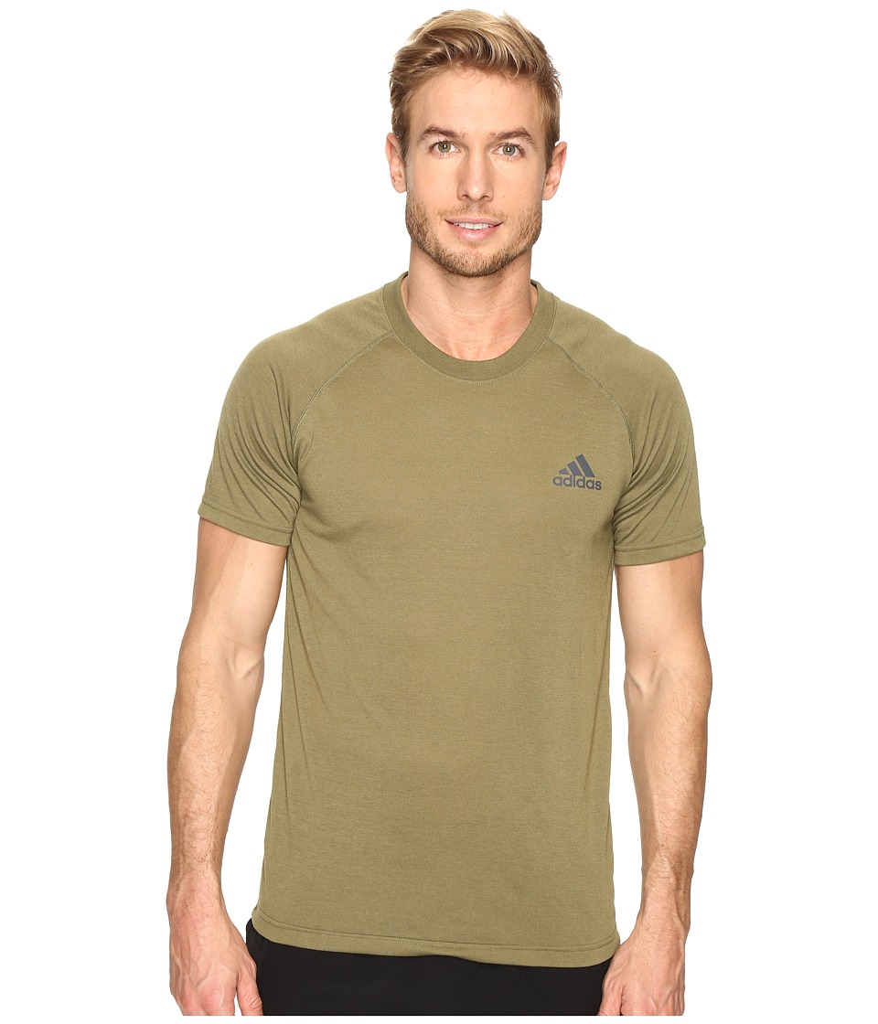 adidas - Ultimate Short Sleeve Crew Tee (Olive Cargo/Black) Men's T Shirt