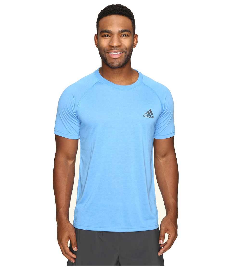 adidas - Ultimate Short Sleeve Crew Tee (Ray Blue/Black) Men's T Shirt