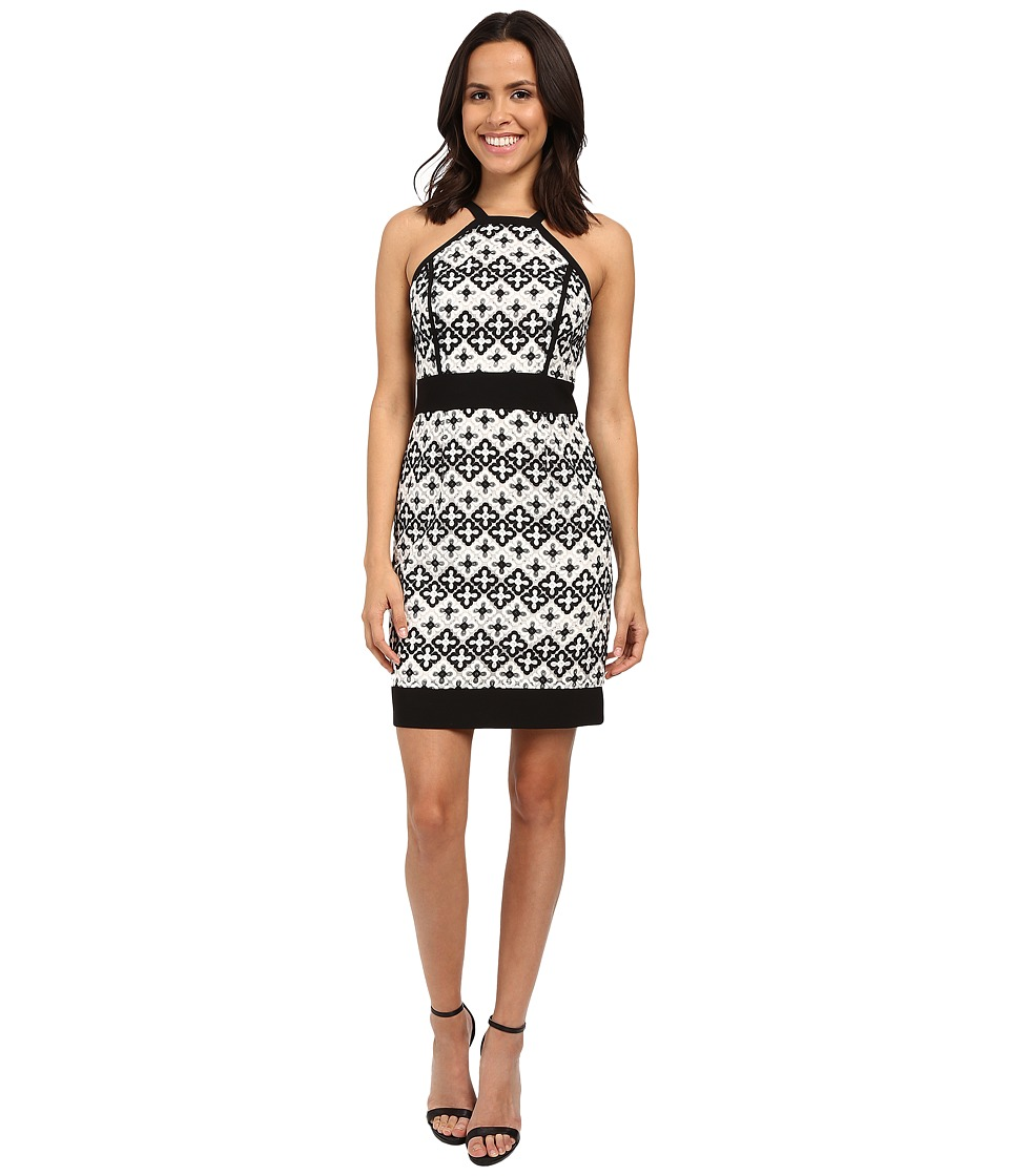 Laundry by Shelli Segal - Cut Away Novelty Sheath Dress (Black) Women's Dress