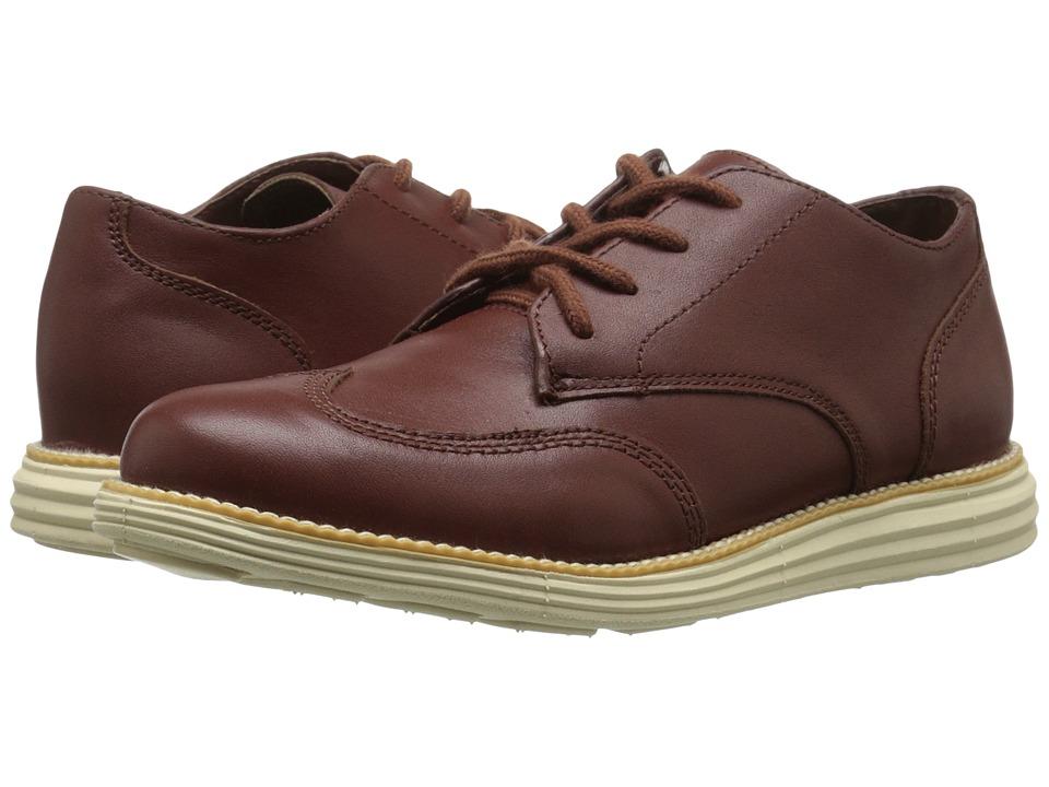 Cole Haan Kids - Grand Oxford (Little Kid/Big Kid) (Woodbury Brown/Cream) Boy's Shoes