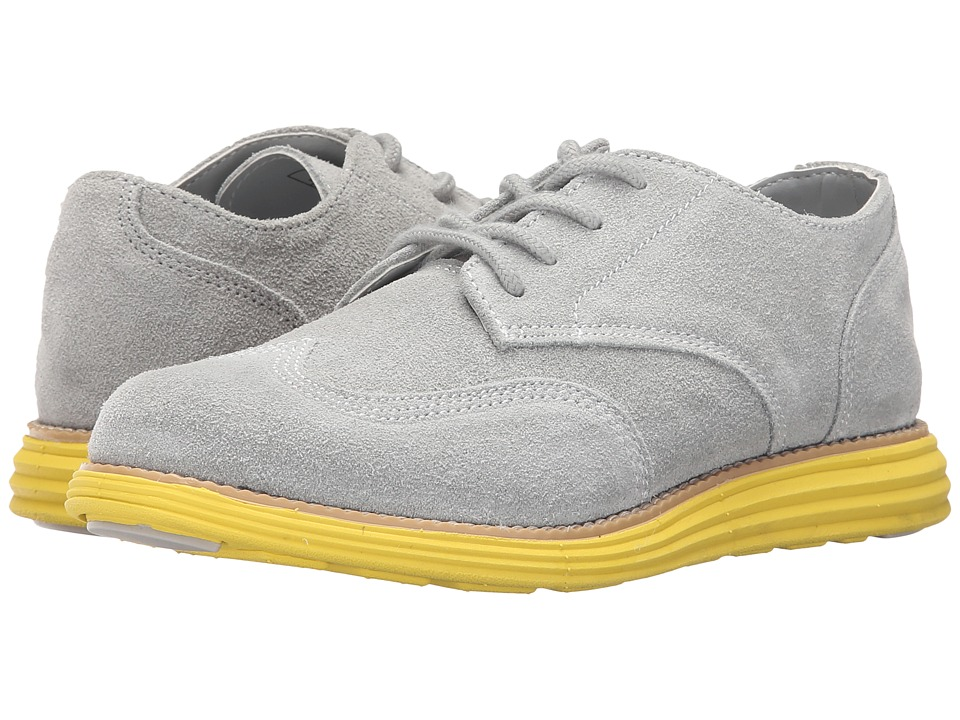 Cole Haan Kids - Grand Oxford (Little Kid/Big Kid) (Grey/Volt Yellow) Boy's Shoes