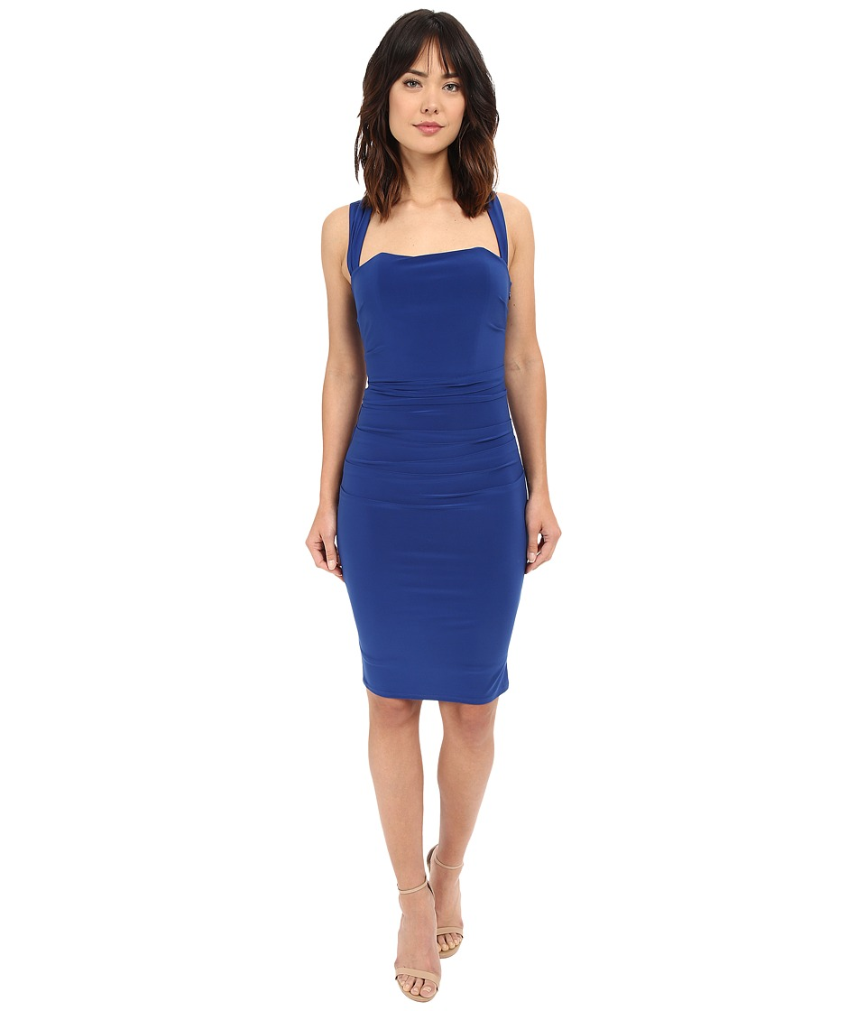 Laundry by Shelli Segal - X-Back Jersey Cocktail Dress (Blue Beret) Women's Dress