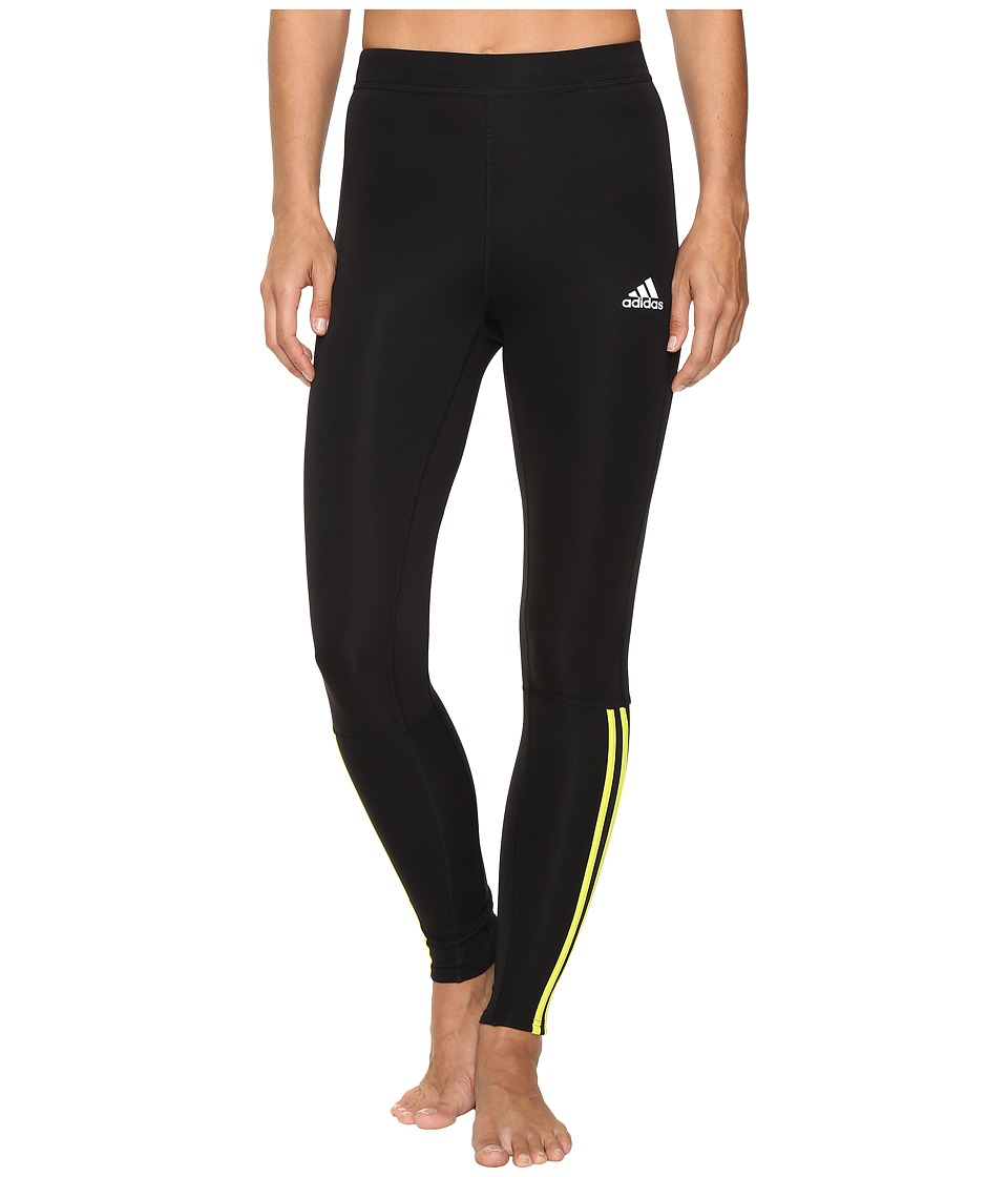 adidas - Response Long Tights (Black/Shock Slime) Women's Casual Pants