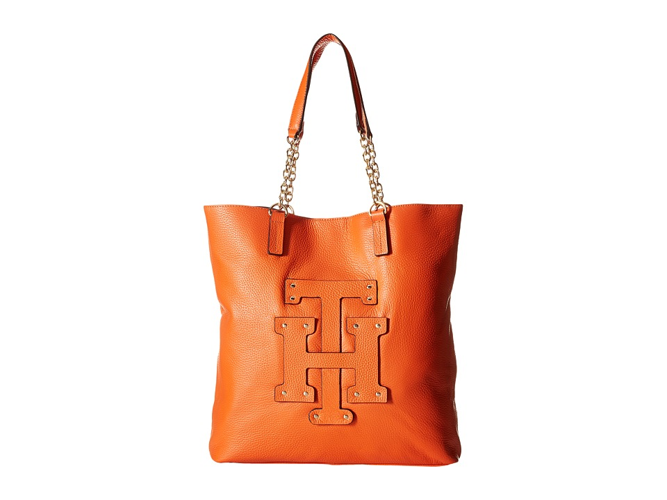 Tommy Hilfiger - Patch-Tote w/ Chain (Papaya) Tote Handbags
