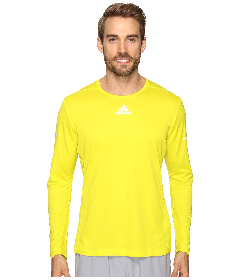 adidas - Sequencials Run Long Sleeve Tee (Shock Slime) Men's T Shirt