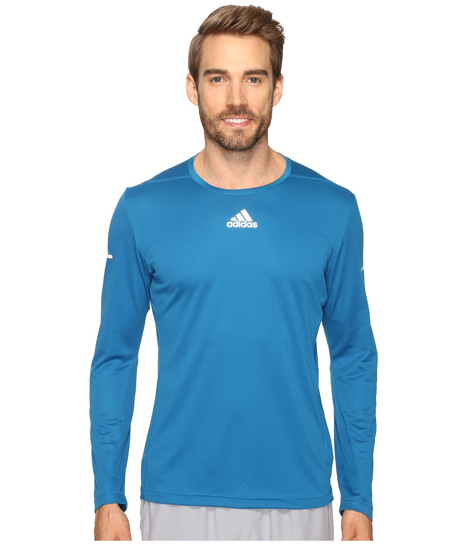 adidas - Sequencials Run Long Sleeve Tee (Unity Blue) Men's T Shirt