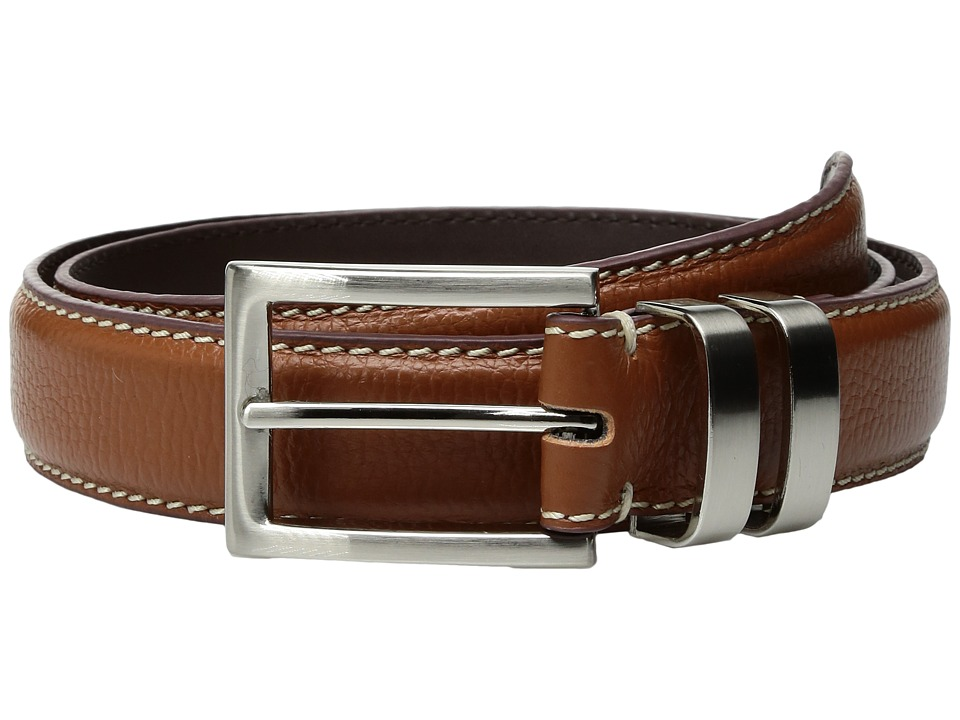 Florsheim 32mm Full Grain Leather Belt (Brown) Men