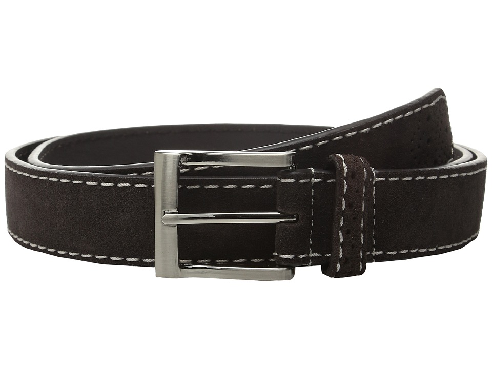 Florsheim 32mm Suede Leather Belt (Brown) Men