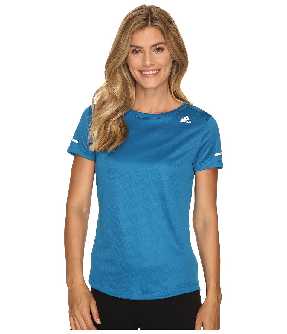 adidas - Run Short Sleeve Tee (Unity Blue) Women's Short Sleeve Pullover