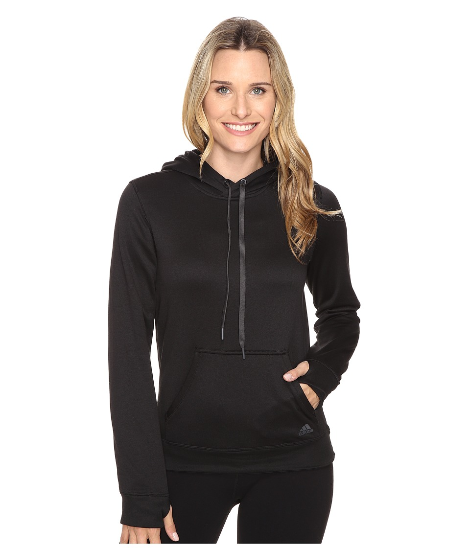 adidas Ultimate Fleece Pullover Hoodie (Black/Colored Heather) Women