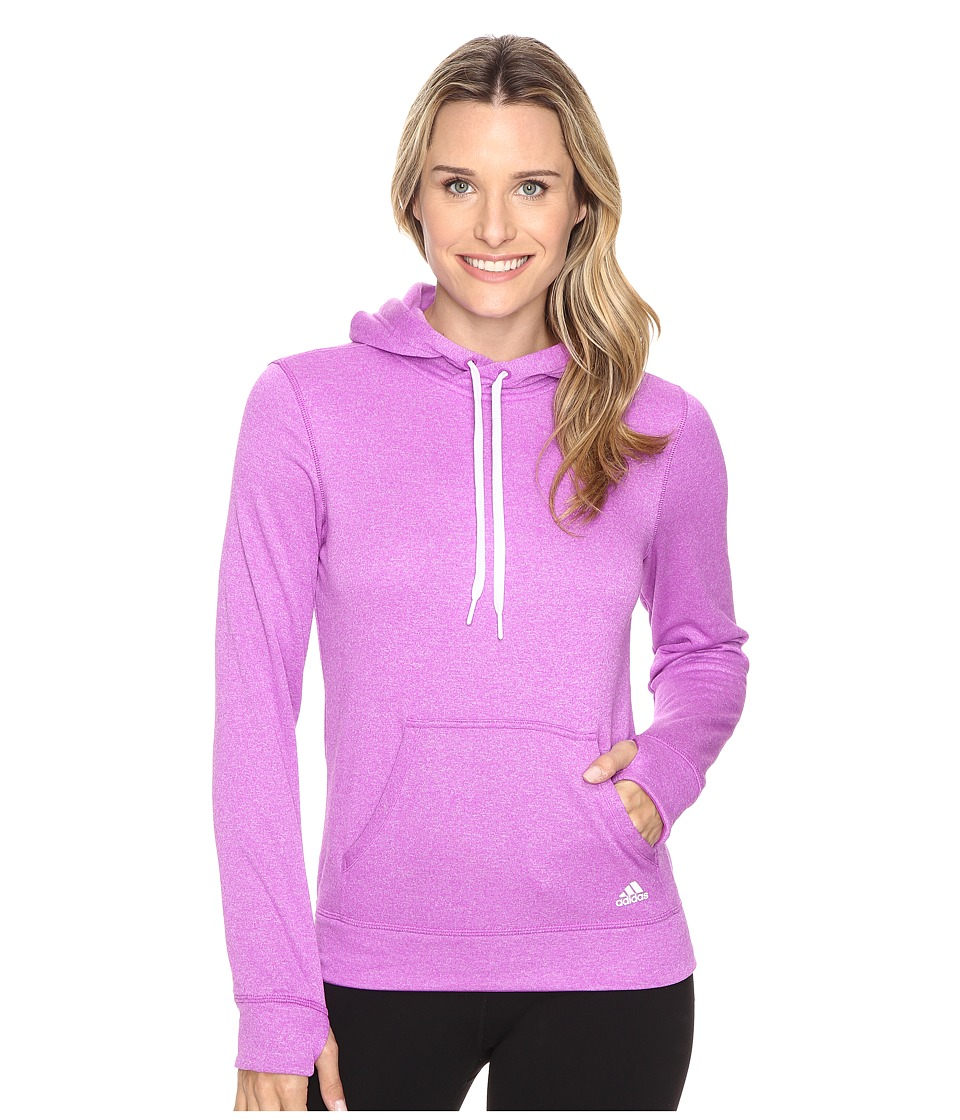 adidas Ultimate Fleece Pullover Hoodie (Shock Purple/Colored Heather) Women