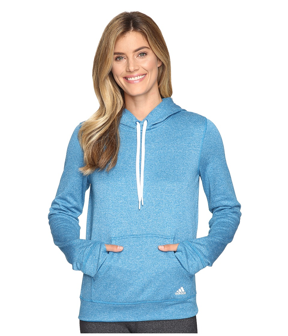 adidas Ultimate Fleece Pullover Hoodie (Unity Blue/Colored Heather) Women