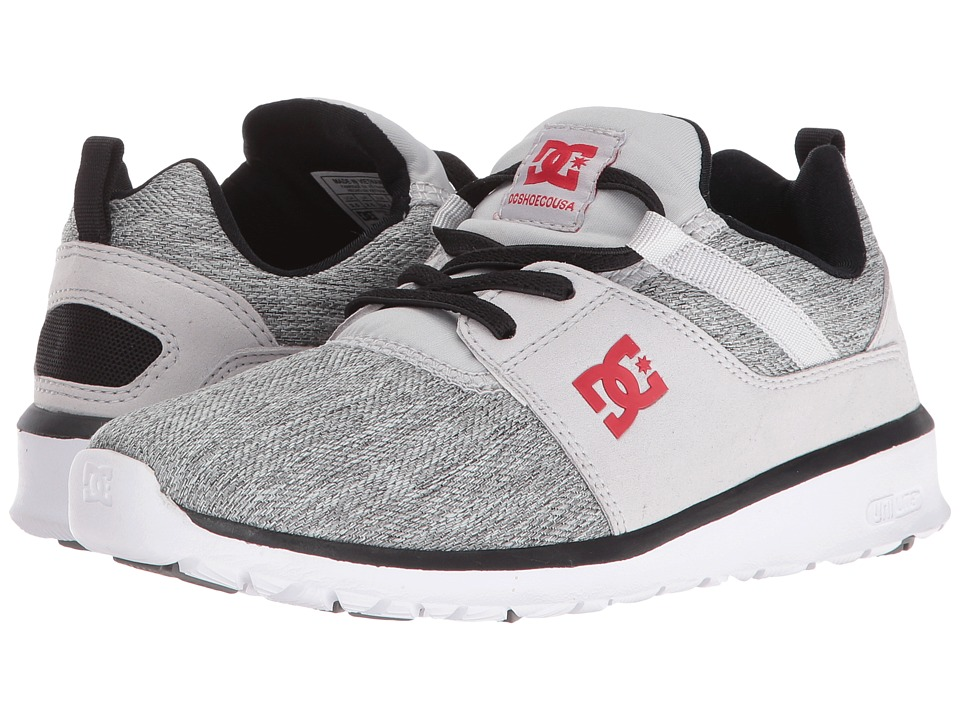 DC Kids - Heathrow TX SE (Big Kid) (Grey/Black/Red) Boys Shoes
