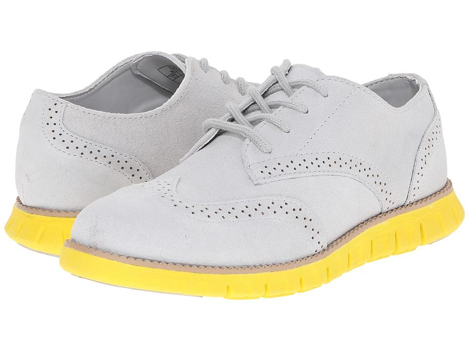 Cole Haan Kids - Zerogrand Oxford (Little Kid/Big Kid) (Gray/Yellow) Boys Shoes