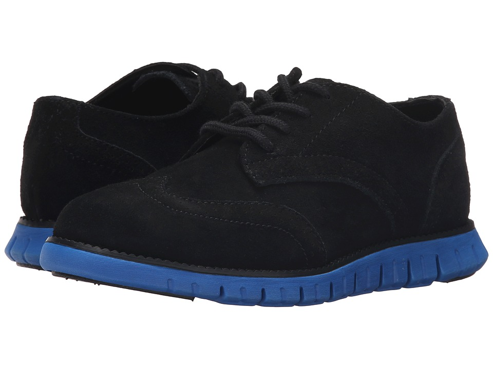 Cole Haan Kids - Zerogrand Oxford (Little Kid/Big Kid) (Black/Black/Royal) Boys Shoes