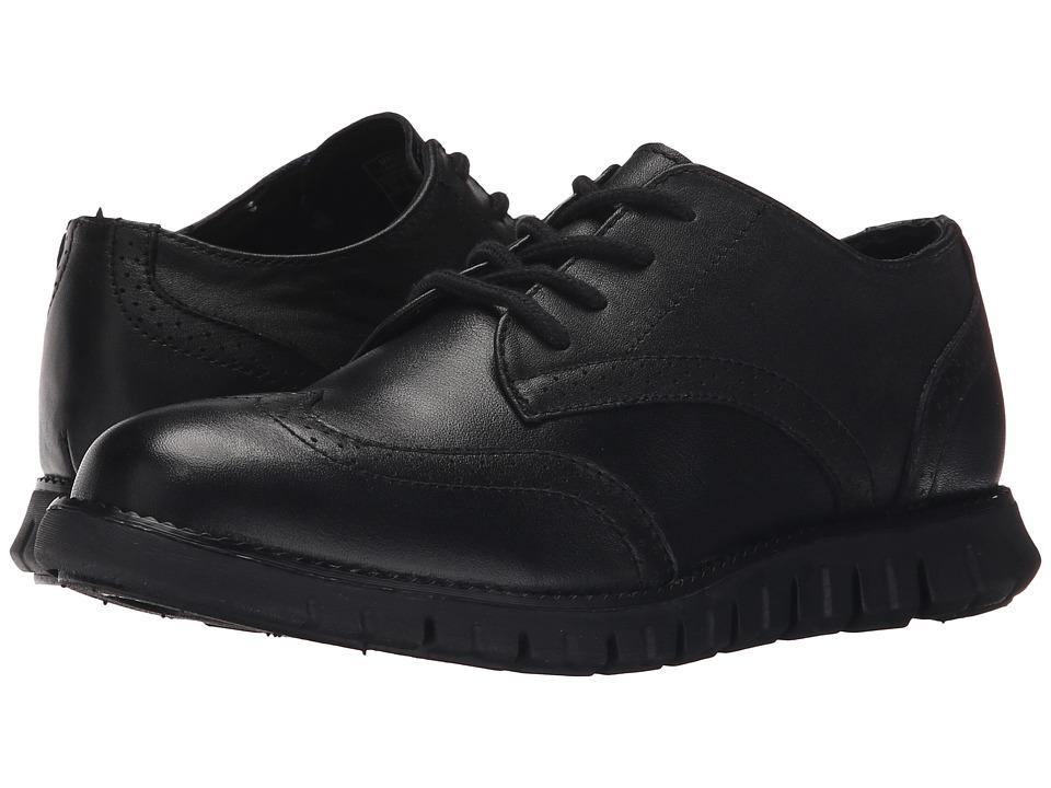 Cole Haan Kids - Zerogrand Oxford (Little Kid/Big Kid) (Black Tumbled) Boys Shoes
