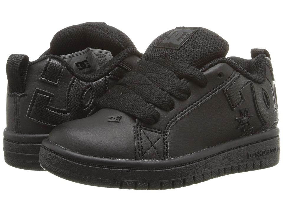 DC Kids Court Graffik (Little Kid) (Black/Black/Black) Boys Shoes
