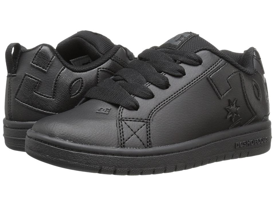 DC Kids - Court Graffik (Big Kid) (Black/Black/Black) Boys Shoes