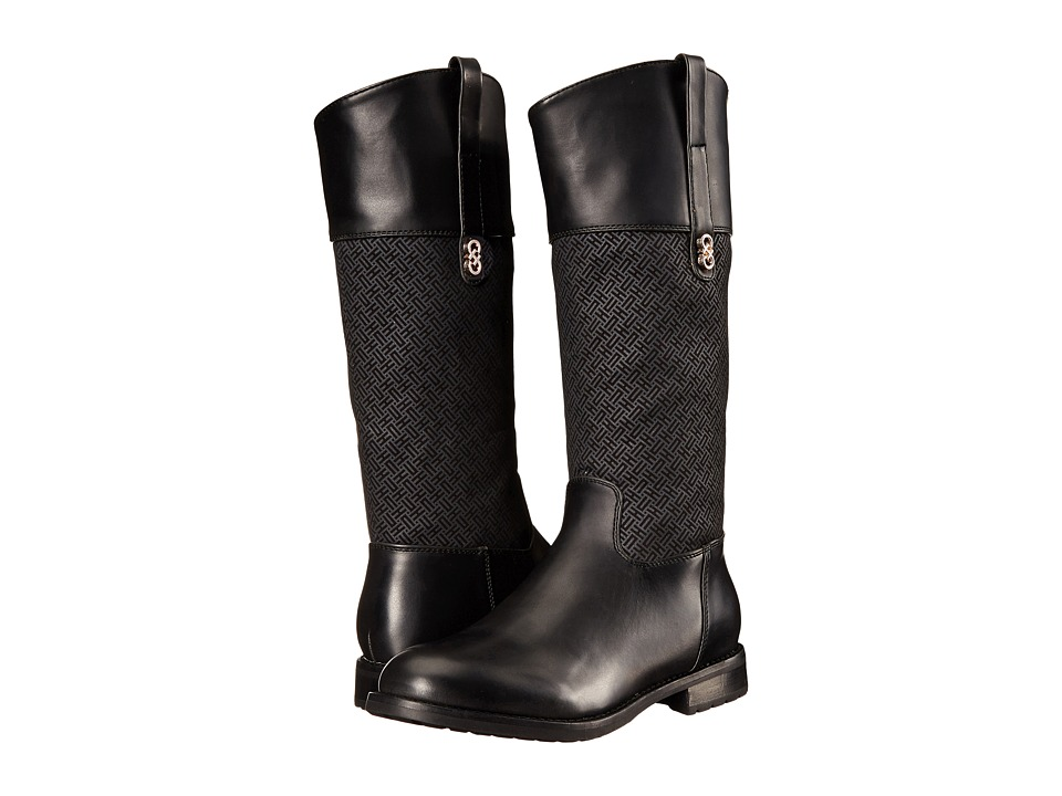 Cole Haan Kids - Brennan Riding Boot (Little Kid/Big Kid) (Black/Black Print) Girls Shoes
