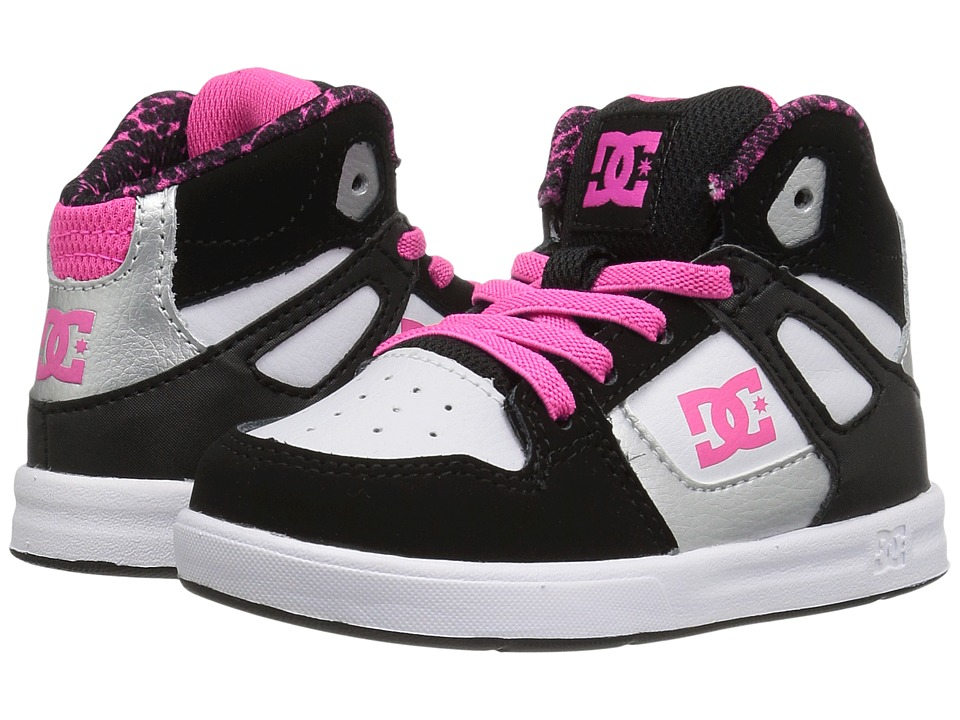 DC Kids - Rebound SE UL (Toddler) (Black/White/Pink) Girls Shoes