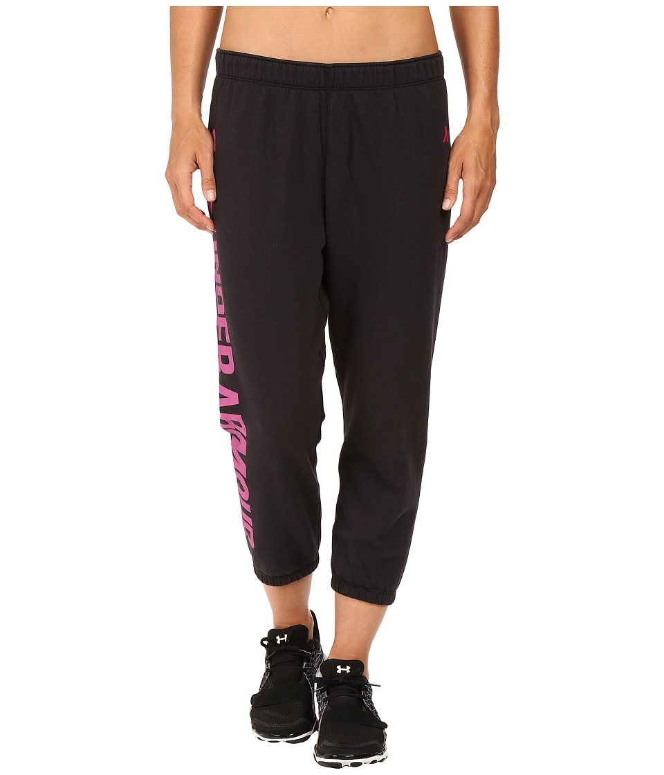 Under Armour UA Favorite Fleece Capri (Black) Women