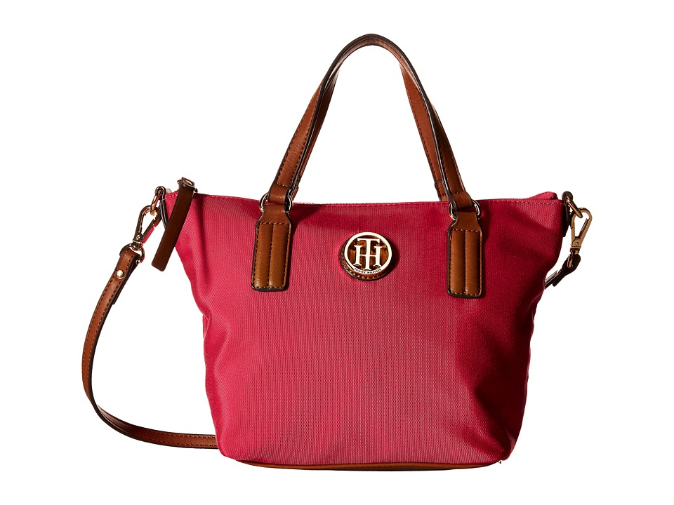 Tommy Hilfiger - Ivy - Heavy Nylon Convertible Shopper (Fuchsia) Tote Handbags