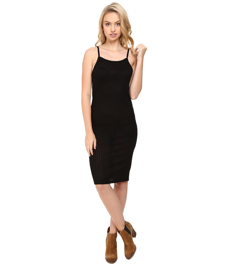 kensie Rayon Rib Dress KS8U7105 (Black) Women