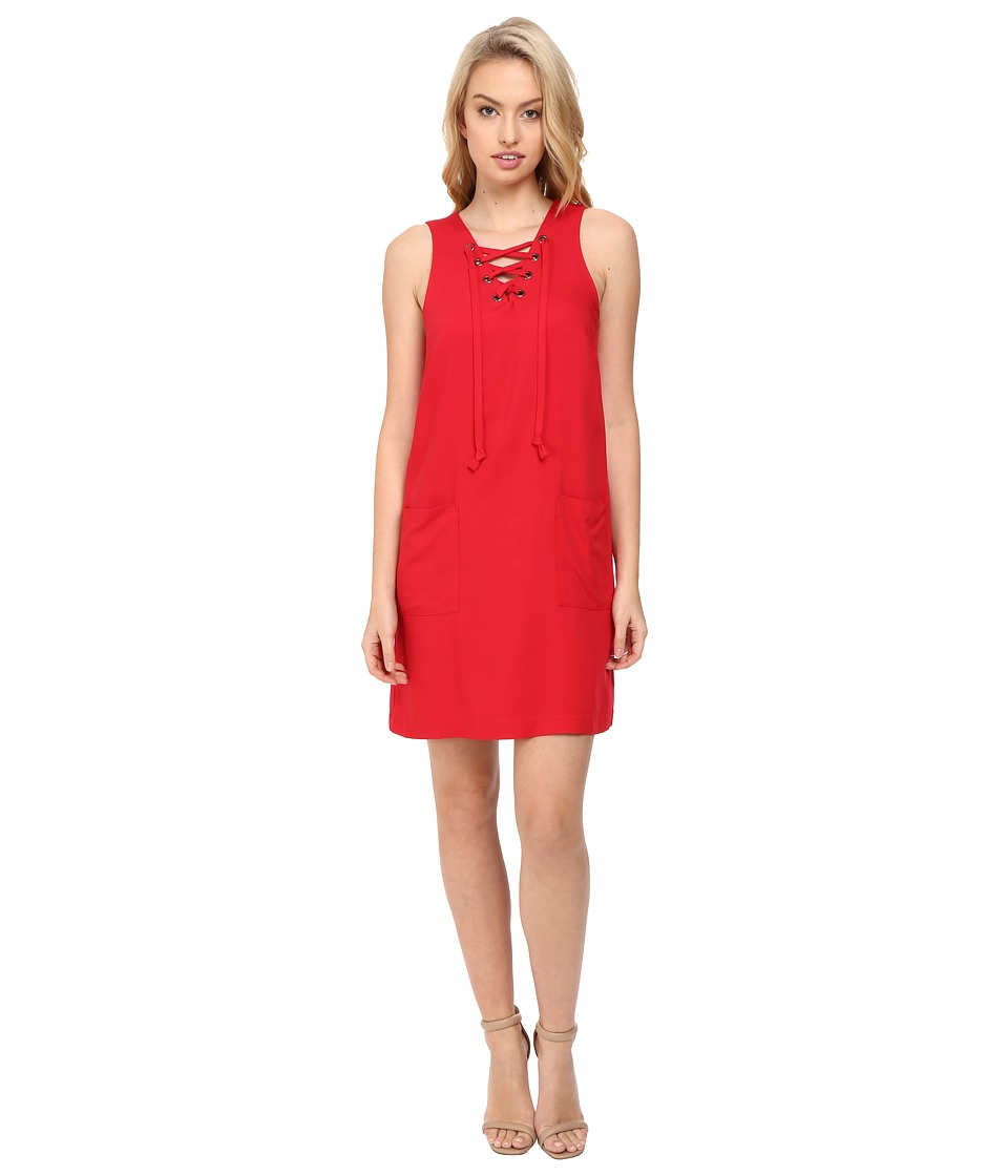 kensie Soft Rayon Twill Dress KS8K7159 (Red) Women