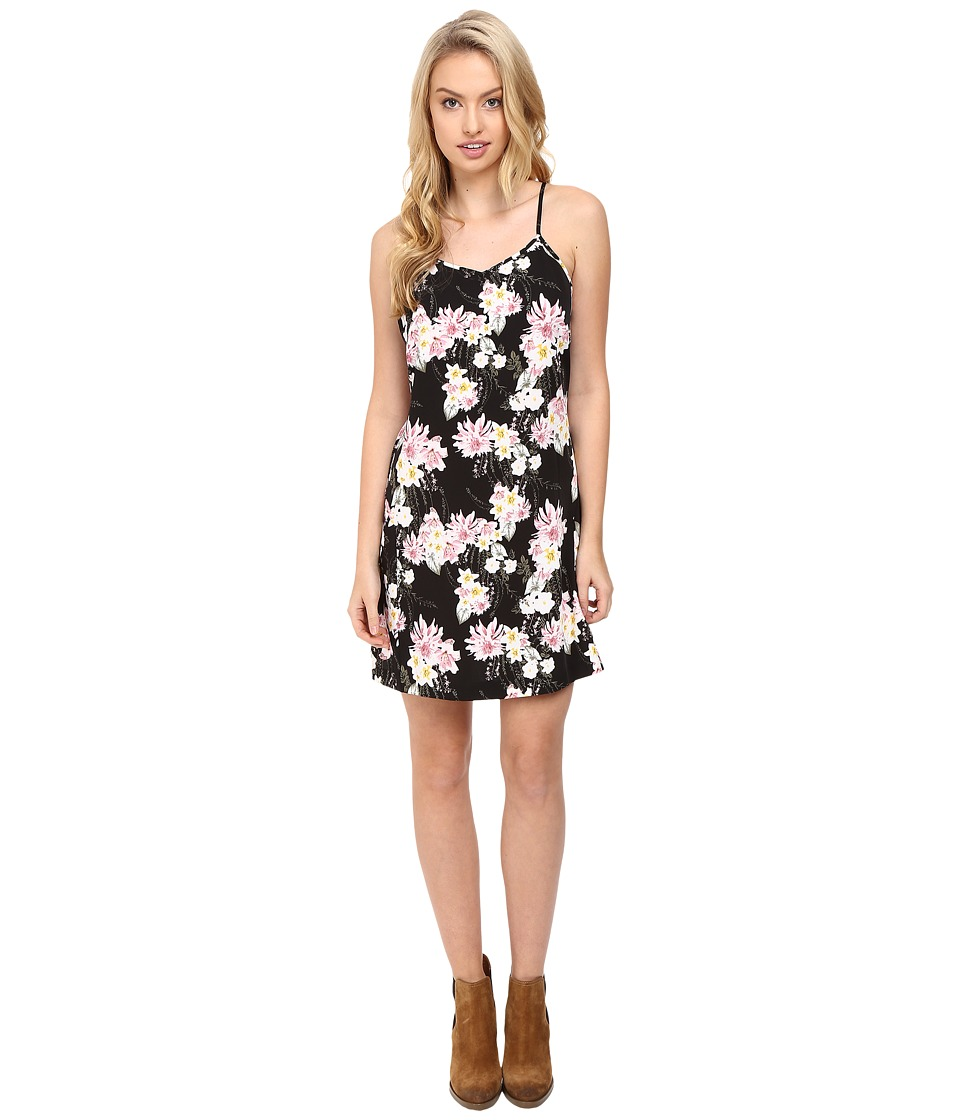 kensie Botanical Florals Dress KS8U7011 (Black Combo) Women