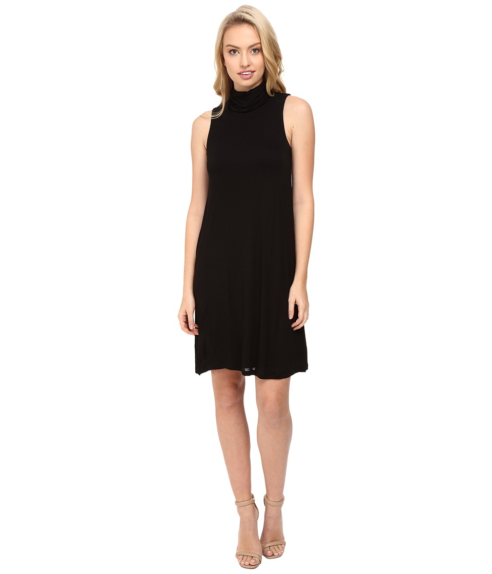 kensie Sheer Viscose Tee Dress KS8K7271 (Black) Women