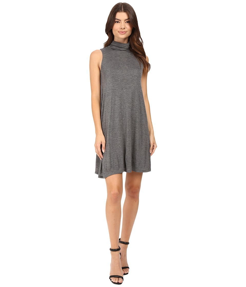 kensie Sheer Viscose Tee Dress KS8K7271 (Heather Ash) Women