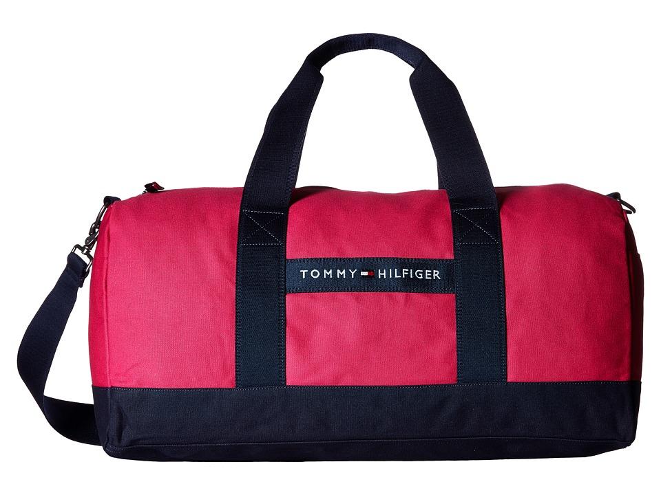 Tommy Hilfiger - TH Sport - Core Plus Medium Duffel (Fuchsia/Navy) Duffel Bags