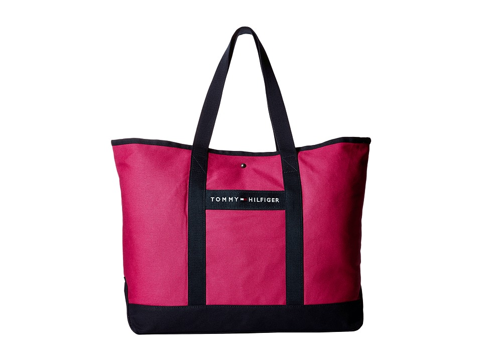 Tommy Hilfiger - TH Sport - Core Plus Tote (Fuchsia/Navy) Tote Handbags