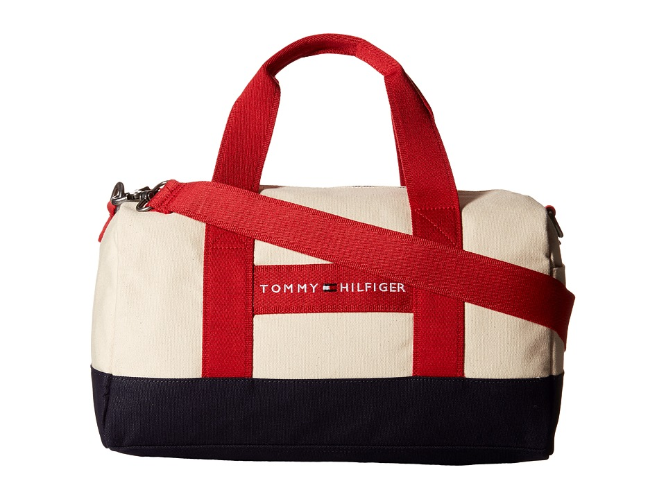 Tommy Hilfiger - TH Sport - Core Plus Mini Duffel (Natural/Navy/Red) Duffel Bags