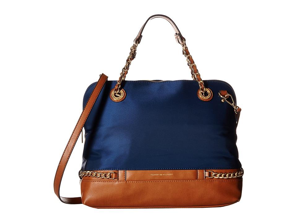 Tommy Hilfiger - Cassidy - Dome Satchel (Navy) Satchel Handbags