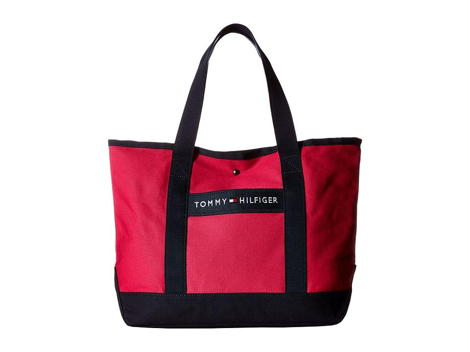 Tommy Hilfiger - TH Sport - Core Plus Shopper (Fuchsia/Navy) Tote Handbags