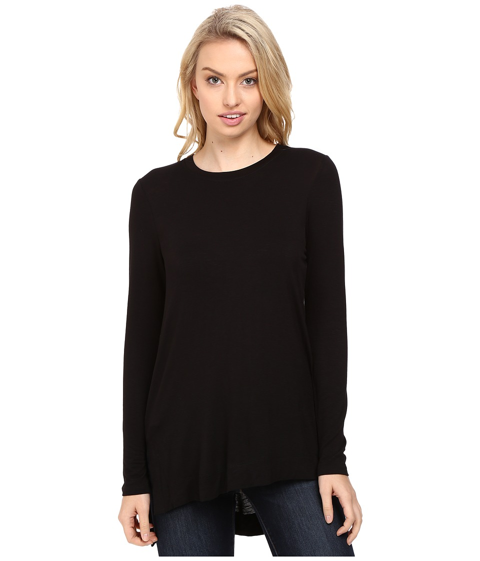 kensie - Subtle Slub Tees Top KS8K3347 (Black) Women's T Shirt