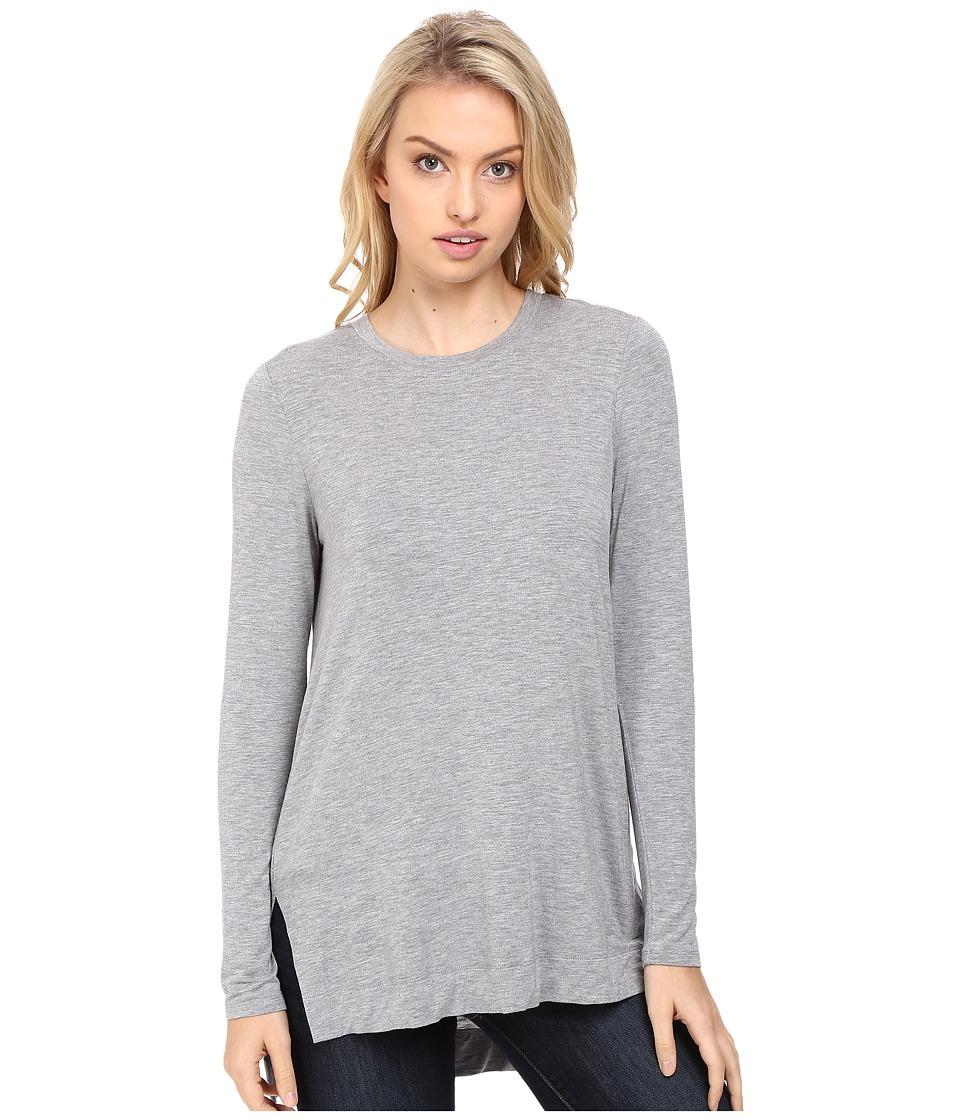 kensie - Subtle Slub Tees Top KS8K3347 (Heather Grey) Women's T Shirt