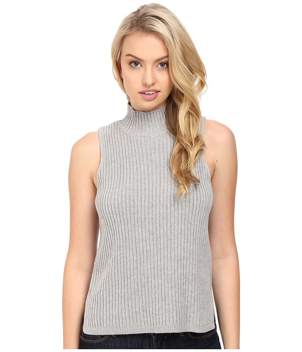 kensie - Cotton Blend Sleeveless Sweater KS8U5601 (Heather Pale Grey) Women's Sweater
