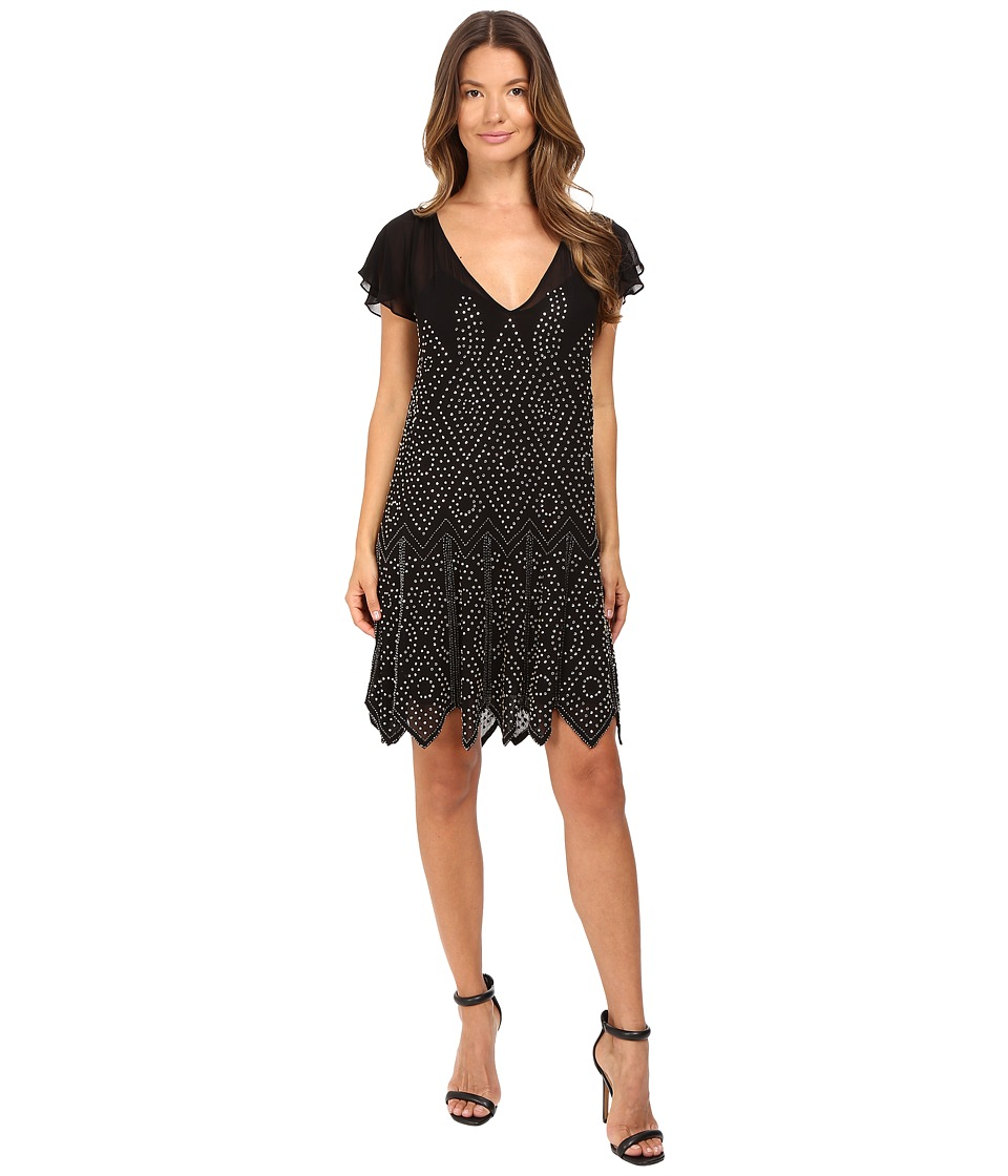 Just Cavalli - Embellished Mesh Runway Dress (Black) Women's Dress