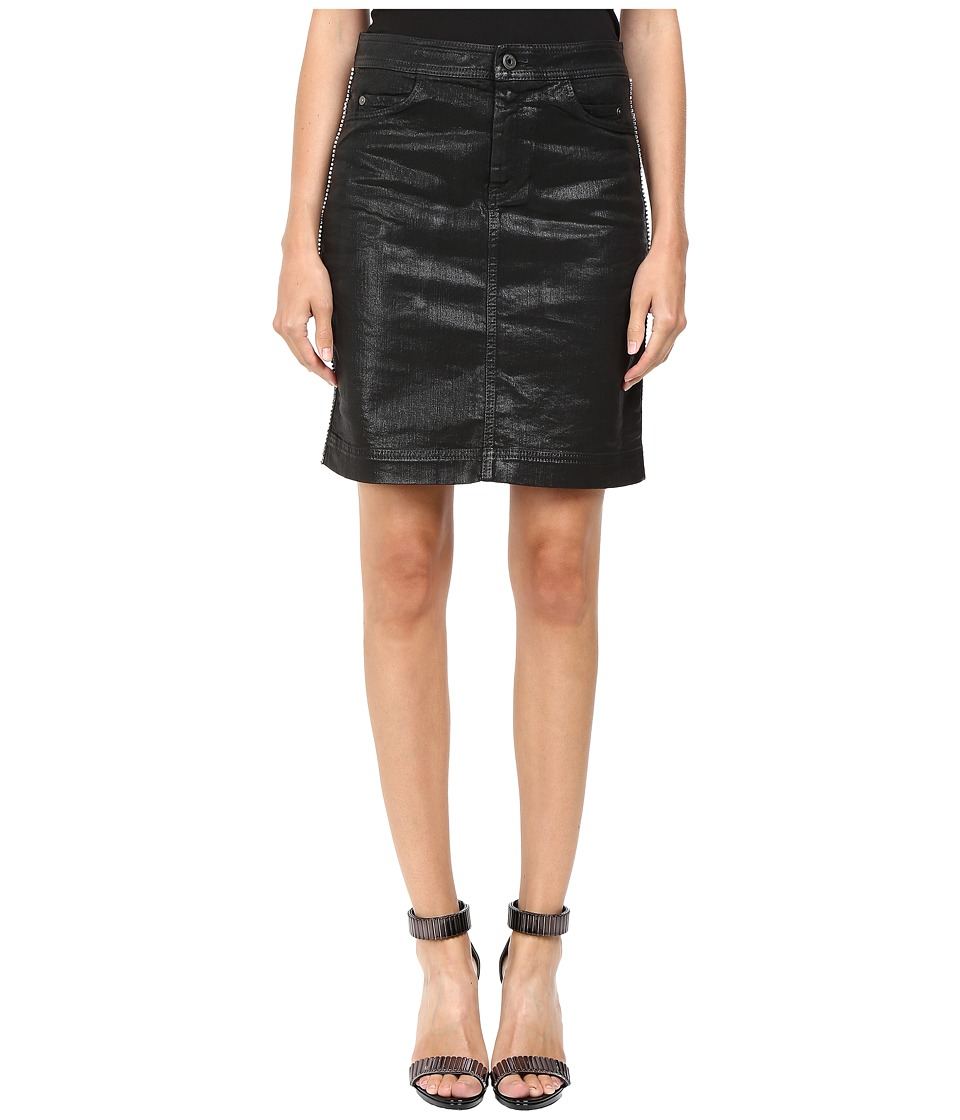 Just Cavalli - Tinted Runway Denim Skirt (Black) Women's Skirt