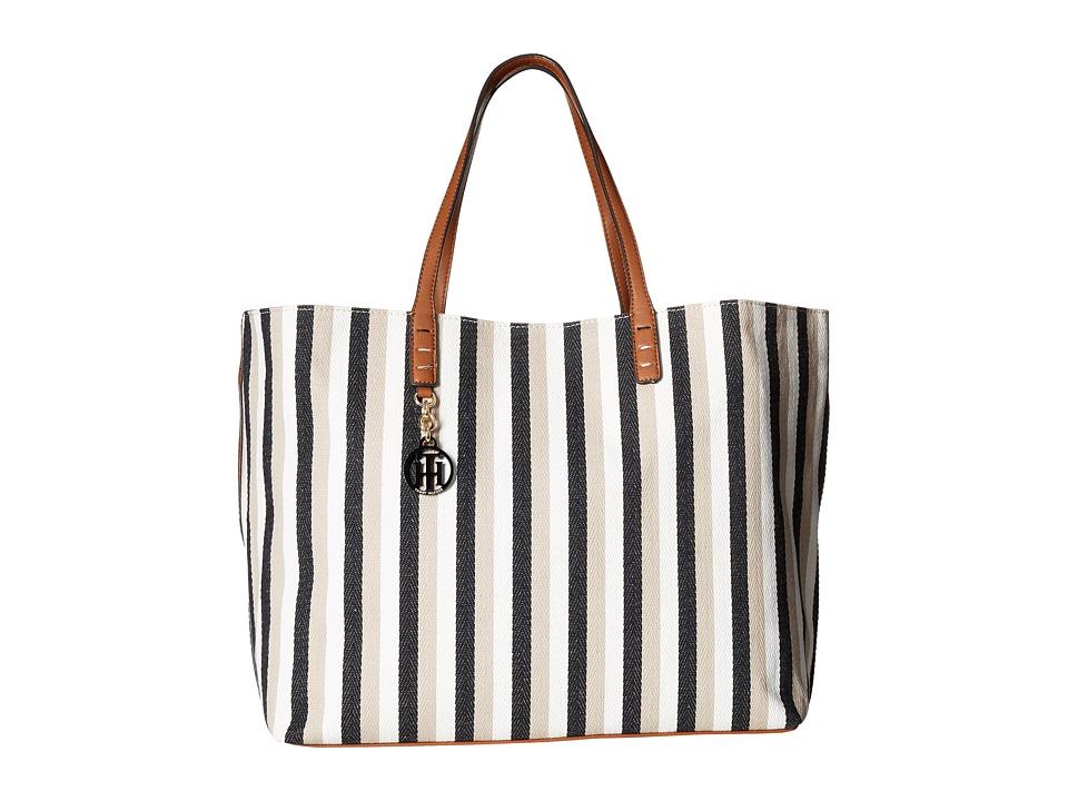 Tommy Hilfiger - Beach Tote (Black/Khaki) Tote Handbags